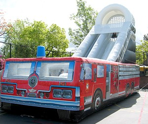 James Events Productions Inflatable Fire Engine Slide