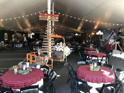 James Events Productions Ski Lodge Themed Holiday Party